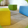 cube seat, cube chair, stool, pillow, floor pillow, seat pad by cubestyle